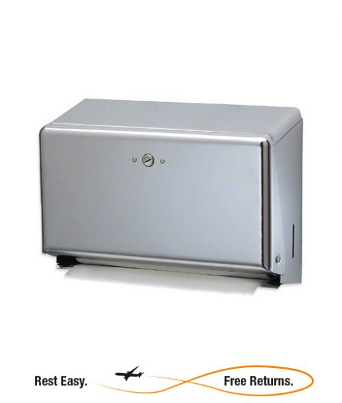 SAT1950XC San Jamar Mini C-Fold Multifold Towel Dispenser Chrome