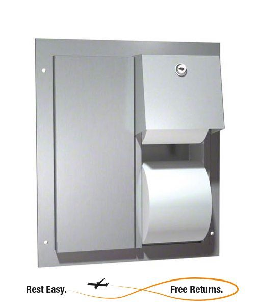 Asi 0032 Dual Access Toilet Paper Dispenser Stainless