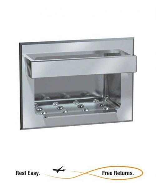 American Specialties 0398 Recessed Heavy Duty Stainless Steel Soap Dish w/Bar