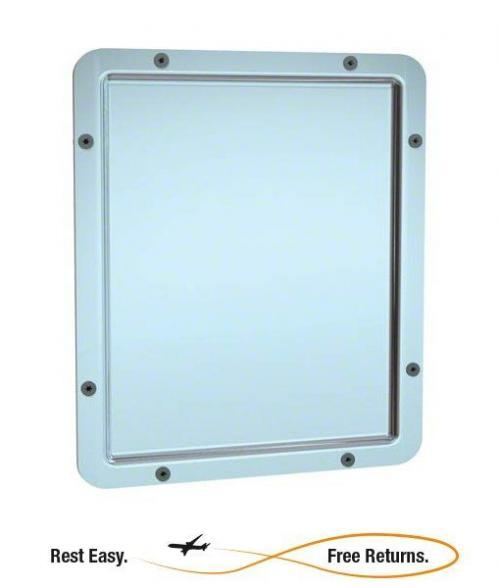 "American Specialties 104 Front Mount Framed Mirror 10-1/6"" x 11-9/16"""