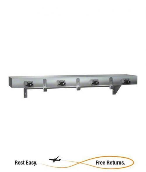 """American Specialties 13154 36"""" Utility Shelf w/4 Mop Holders & 3 Rag Hooks"""
