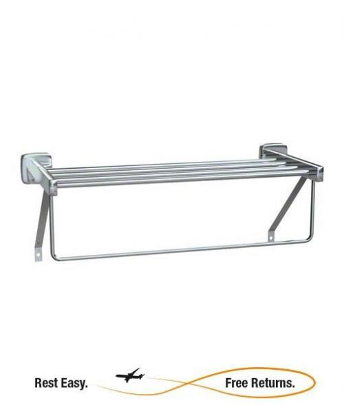 "American Specialties 731024B Towel Shelf w/Towel Bar 24"" Bright Polished"