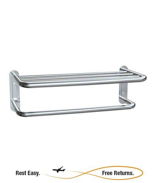 "American Specialties 731120B Bright Polished Towel Shelf w/Towel Bar 20"""