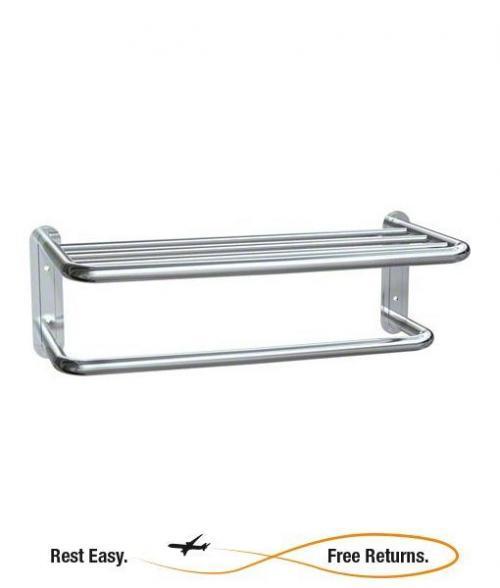 "American Specialties 731124B Towel Shelf w/Towel Bar 24"""