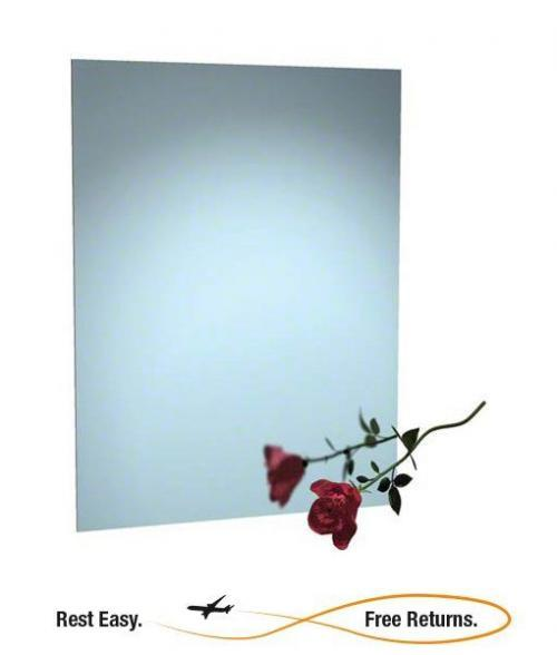 "ADA Compliant American Specialties 80261624 Frameless Stainless Steel Mirror 16"" x 24"""