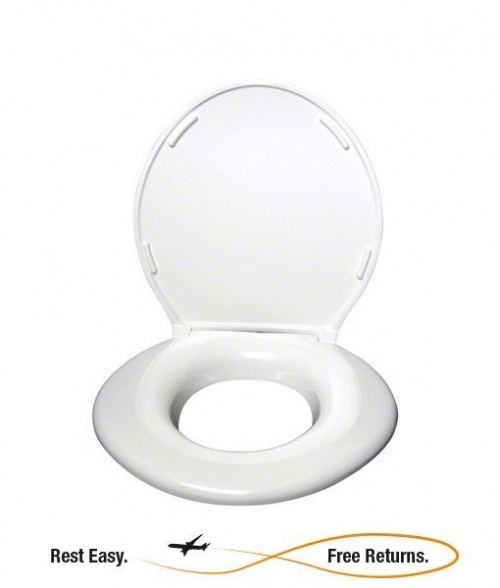 Big John 24456461W White Original Toilet Seat w/Cover