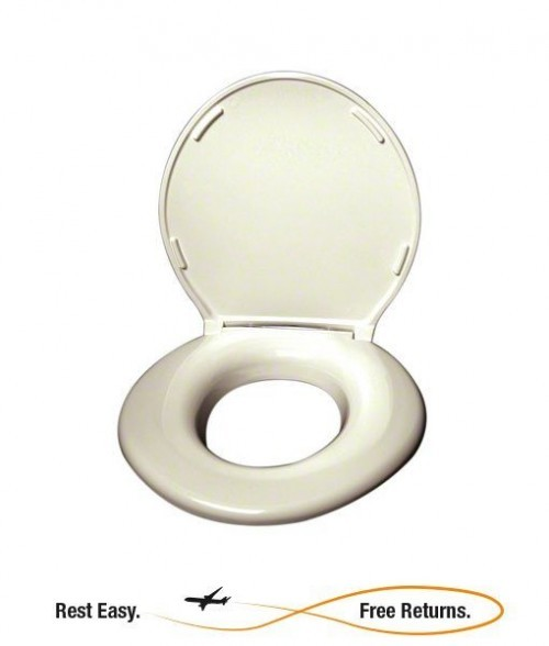 Big John 24456462C Cream Original Toilet Seat w/Cover