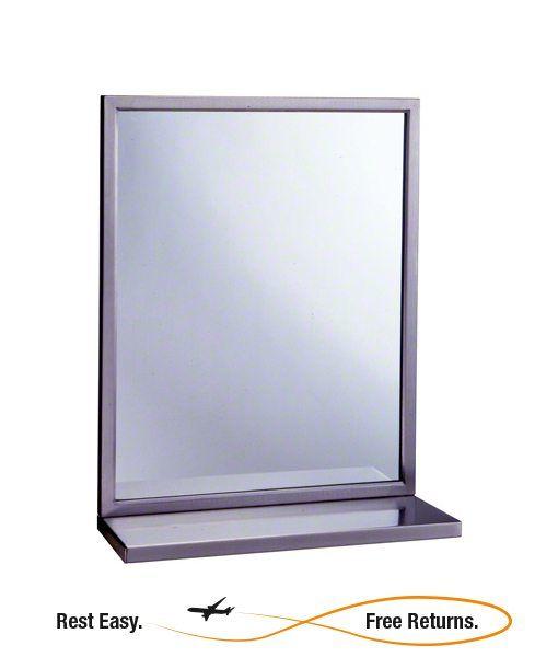 "ADA Compliant Bobrick B2921830 Mirror/Shelf Combination 18"" x 30"""