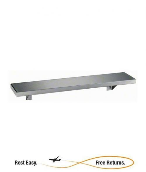 "Bobrick B295X16 Stainless Steel Shelf 5"" W x 16"" L"