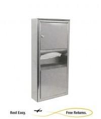Bobrick B-3699 Classic Series Paper Towel Dispenser Waste Recpt w/Skirt