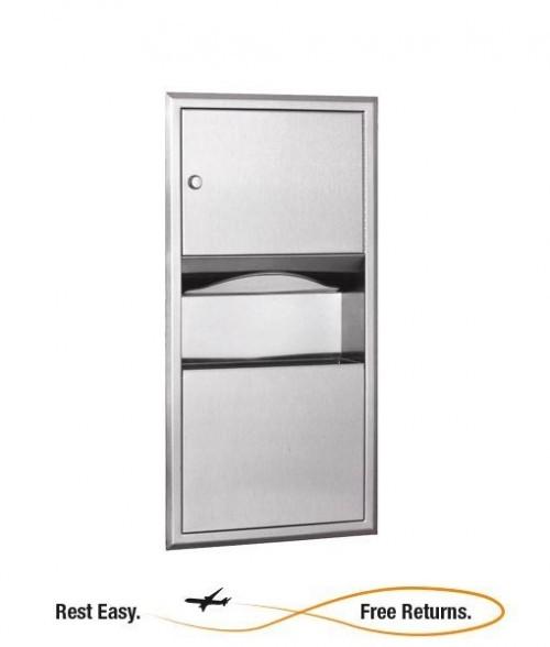 Bobrick B-369 Classic Series Paper Towel Dispenser Waste Receptacle