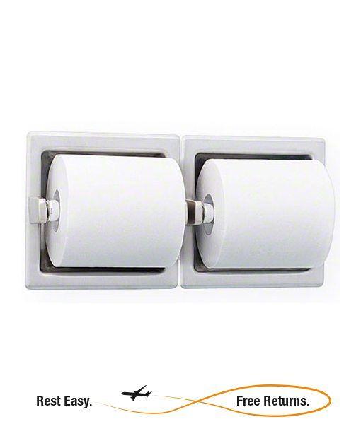 Bradley 5124 5124 Recessed Dual Roll Toilet Tissue Dispenser