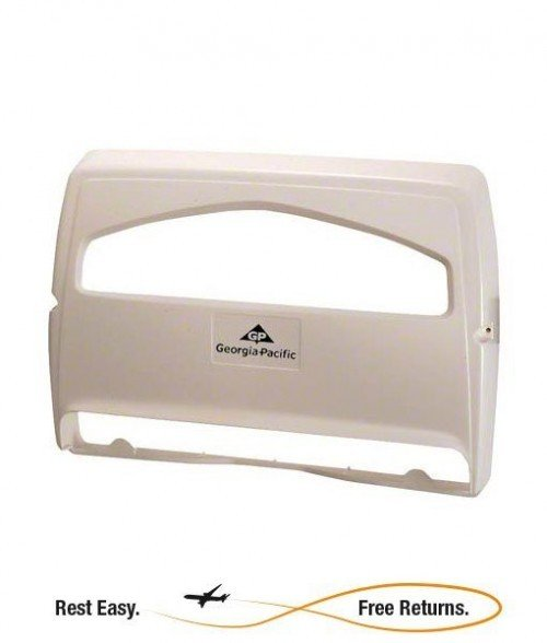 Georgia Pacific 57710 Safe-T-Gard 1/2-Fold Seatcover Dispenser White