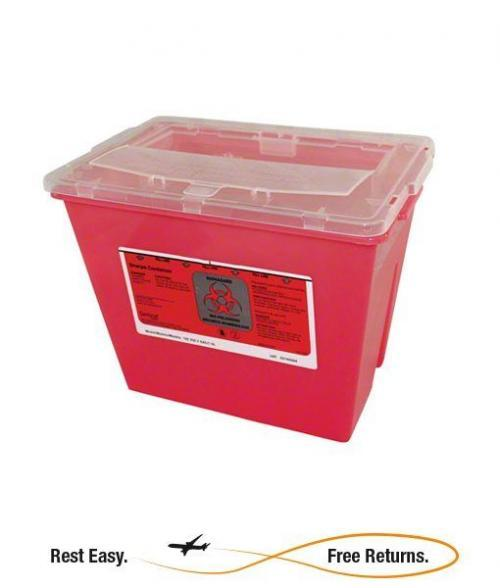 Impact 7352 Sharps Container IMP7352 IMP 7352 IM7352 IM 7352 OSHA Sharps Container Red Needle Container Needle Bucket Red Needle Box Needles Container Needel Container Needle Disposal Restroom Needle Container