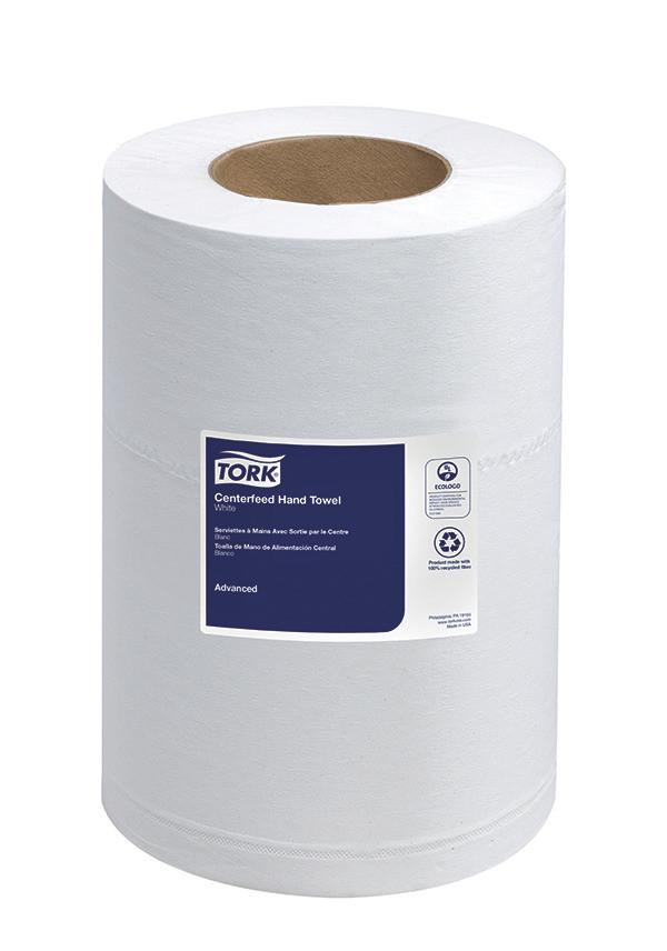 Essity 121225 Tork Advanced Soft Mini Center-Feed White Hand Towel